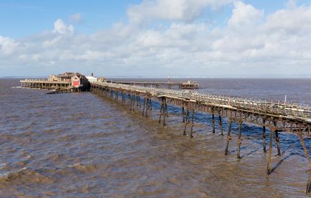brean down: Birnbeck Pier Weston-super-Mare Somerset England UK historic English structure