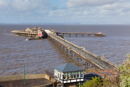 brean: Old Birnbeck Pier Weston-super-Mare Somerset England historic English structure Stock Photo