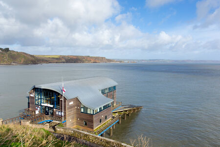tenby wales: RNLI lifeboat house Tenby Wales UK Editorial