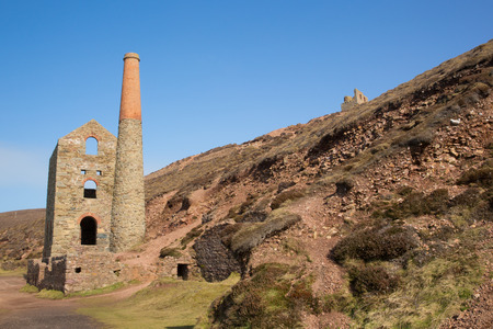 disused: Cornwall Tin mine England UK near St Agnes Beacon on the South West Coast Path known as Wheal Coates