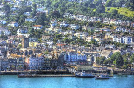Historic naval town of Dartmouth Devon UK photo