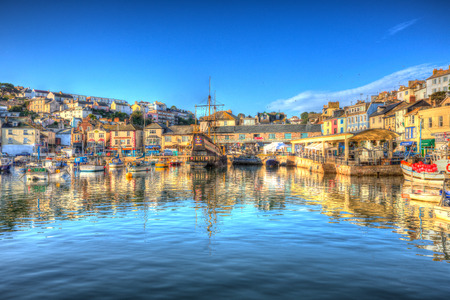 english west country: English West Country harbour Brixham Devon Editorial
