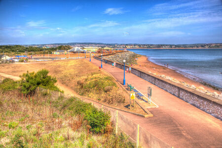 Dawlish Warren Devon England UK on a blue sky summer day  photo