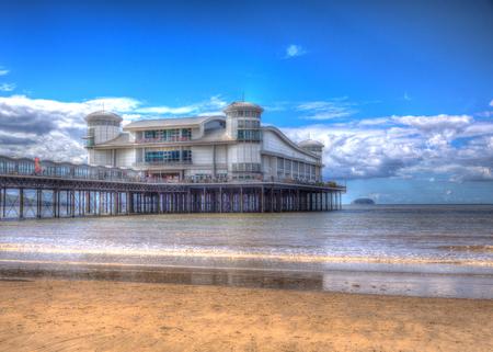 birnbeck: Weston super Mare spiaggia Somerset in Inghilterra e il molo
