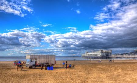 birnbeck: Weston-super-Mare beach Somerset England UK in HDR