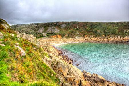Lamorna Cove Cornwall England UK in HDR photo