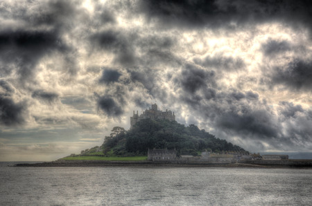 St Michaels Mount Marazion Cornwall England UK medieval castle and church from the island   photo