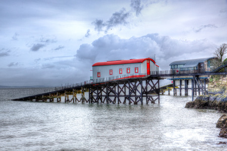 lifeboat station: Old lifeboat station Tenby Wales Stock Photo