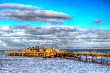 brean: Birnbeck Pier Weston Somerset Stock Photo