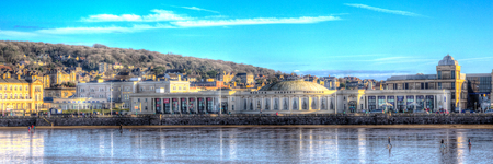 steep holm: Weston-super-mare seafront Somerset