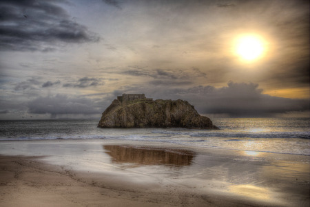 tenby wales: St Catherines Island Tenby Wales in HDR
