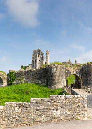 11th century: Corfe Castle Isle of Purbeck Dorset England built by William the Conqueror  Editorial