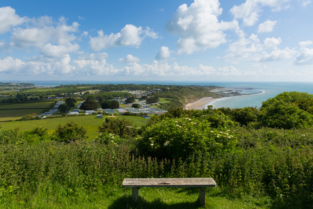 wight: Isle of Wight view to Bembridge and Whitecliff Bay east of the island