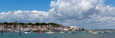 wight: Panorama Cowes harbour Isle of Wight