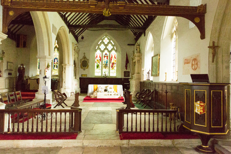iow: Inside Godshill church Isle of Wight England Editorial