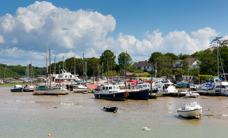 iow: Wootton Bridge Isle of Wight between Ryde and Newport Stock Photo