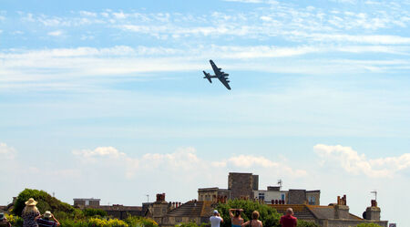brean down: Flying Fortress Sally B B17 at the Weston Air Festival Weston-s-Mare on Sunday 22nd June 2014 Editorial