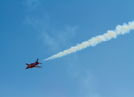 brean down: Red Arrows jet plane Editorial