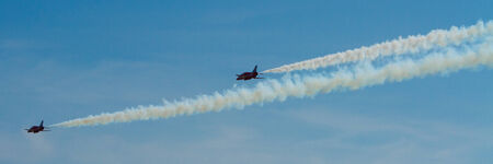 brean: Two Red Arrows jet planes