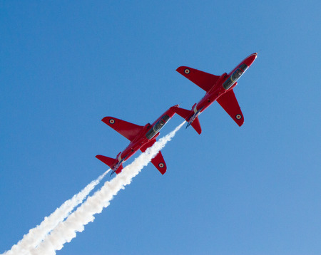 steep holm: Two Red Arrows jets