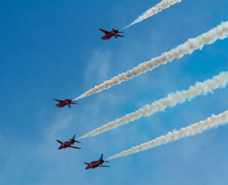brean: RAF Royal Airforce Air Force aerobatic team The Red Arrows with smoke trails