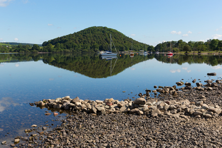 Ullswater by Pooley Bridge Lake District in Cumbria, England on beautiful summer day with sunshine photo