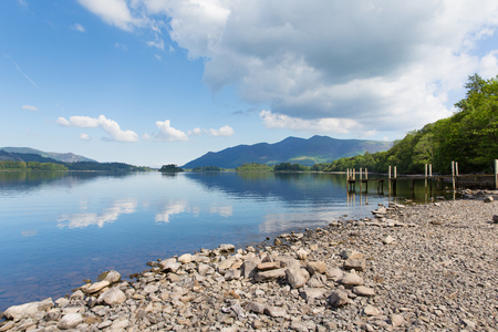 Derwent Water Lake District National Park in Cumbria, England photo