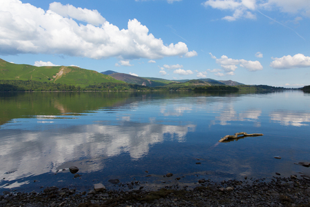 Derwent Water, The Lakes in Cumbria, England Stock Photo