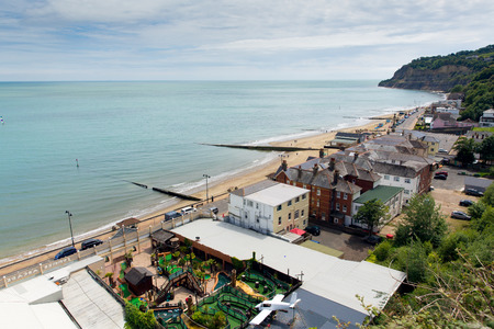 iow: Isle of Wight Shanklin England UK, popular tourist and holiday location east coast of the island on Sandown Bay with sandy beach Editorial