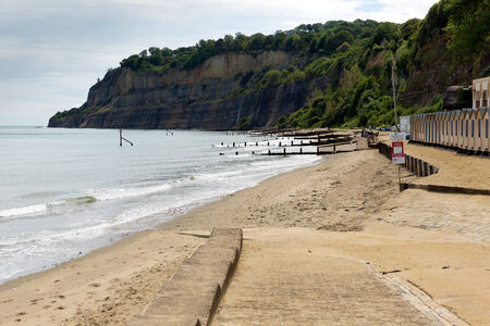 iow: IOW beach Shanklin Isle of Wight England UK, popular tourist and holiday location east coast of the island on Sandown Bay with sandy beach