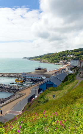 iow: Ventnor coast Isle of Wight south of the island tourist town England uk Stock Photo
