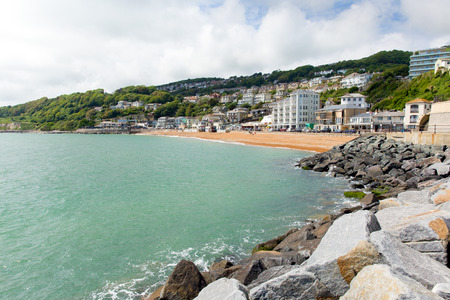 wight: Ventnor seafront Isle of Wight south coast of the island tourist town England uk