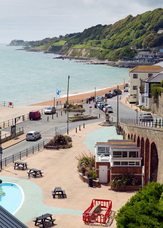 iow: Ventnor Isle of Wight south coast of the island tourist town England uk