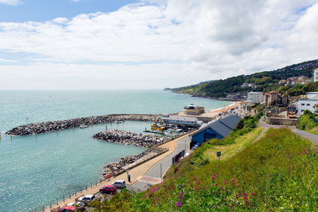 Ventnor Isle of Wight south coast of the island tourist town England uk