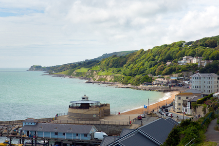 iow: Ventnor town and coast Isle of Wight south coast of the island tourist town England uk