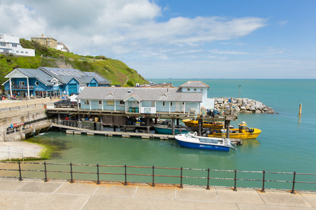 iow: Ventnor harbour Isle of Wight south coast of the island tourist town England uk