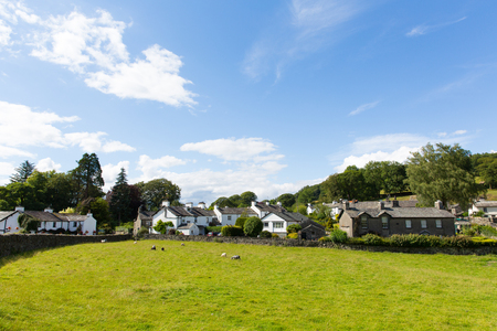 beatrix: Near Sawrey country view by Hawkshead Lake District former village home to Beatrix Potter Stock Photo