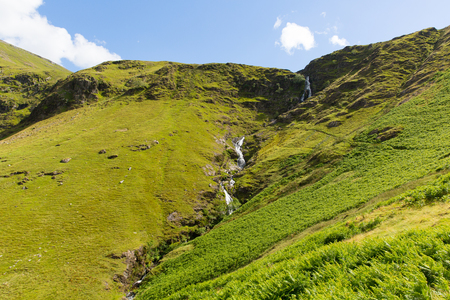newlands: Moss Force waterfall Lake District National Park Cumbria  Stock Photo
