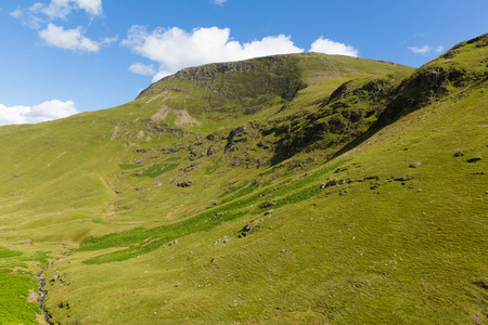 newlands: Mountains next to Moss Force waterfall Lake District National Park Cumbria Stock Photo