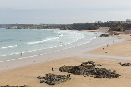 Newquay beach Cornwall England UK