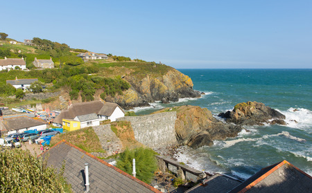 Coast at Cadgwith Cornwall England UK on the Lizard Peninsula between The Lizard and Coverack photo