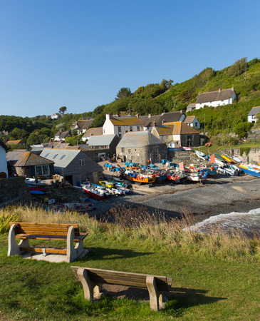 Cadgwith Cornwall England UK on the Lizard Peninsula between The Lizard and Coverack photo