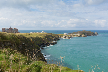 headland: Headland Newquay North Cornwall England UK