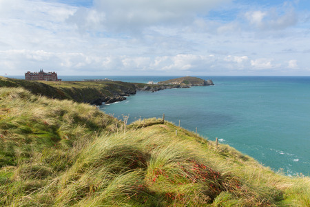 headland: The Headland at Newquay Cornwall England UK