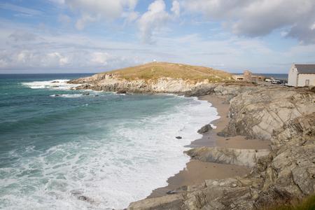 headland: Newquay coast Cornwall England UK at Towan Head