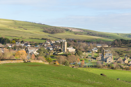 english village: English village Abbotsbury Dorset UK in the countryside Stock Photo