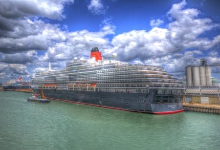 queen victoria: Queen Victoria cruise ship at Southampton Docks England UK