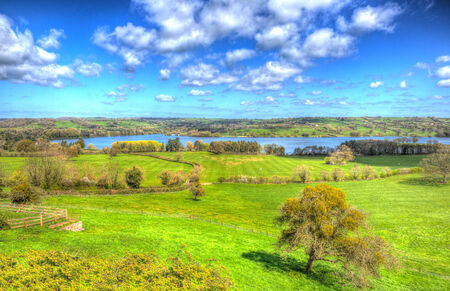 english west country: Blagdon Lake Somerset England UK country view