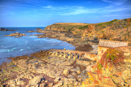 south west england: Lizard Point Heritage coast Cornwall UK South West England on a sunny summer day