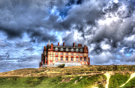 headland: Headland hotel Newquay coast  Cornwall England UK by Fistral beach